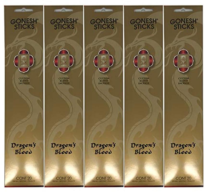 蜜揃えるローラーGonesh カスタムブレンドインセンススティック - Dragon's Blood - 5パック (合計100本)