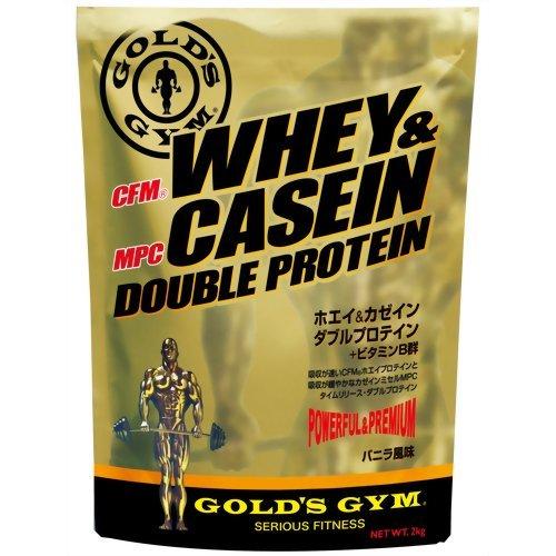 GOLD'S GYM ホエイ&カゼイン ダブルプロテイン バニラ風味 900g