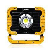 実用新案登録済み GOODGOODS COB LED 投光器 充電式 防水 20W 2500lm ポ...