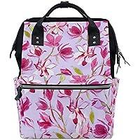 ママバッグ マザーズバッグ リュックサック ハンドバッグ 旅行用 ピンクの花柄 ファション