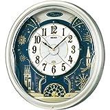 SEIKO CLOCK (セイコークロック) 掛け時計 電波 アナログ からくり 6曲メロディ 回転飾り 薄金色パール RE561H