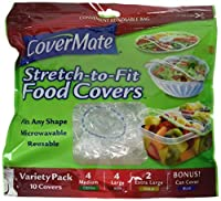 CoverMate Stretch-To-Fit Food Covers, Assorted Sizes, 60 Total Covers [並行輸入品]