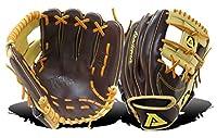 Akademaトリノシリーズ野球内野手グローブブラウン/タン/砂岩、左、手