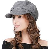 Fancet Womens Wool Blend Visor Beret Newsboy Cap Winter Hat 56-58cm