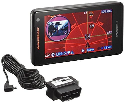 【まとめ買いセット】ユピテル レーダー探知機 GWR203sd-S 一体型 静電タッチ式 GPSデータ13万1千件以上 GWR203sdとOBD12-MIIIセット