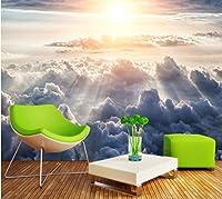 Mbwlkj カスタム3D壁紙太陽の輝きミストテレビ壁空雲リビングルームホテルレストラン壁画壁紙-250cmx175cm