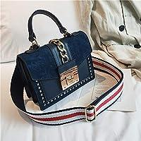 SMART革ハンドバッグの女性のバッグファッションスモールショルダーバッグ赤フラップトートレディースメッセンジャーバッグ女性リベットチェーンクロスボディバッグ Bolsas財布