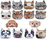HIROANO 猫顔 猫 犬顔 犬 クッション かわいい ふっくら やわらか アニマル グッズ 雑貨 抱き枕 ぬいぐるみ ハンドタオル付き (パグ 小)