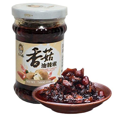老干媽香�末�辣椒 椎茸入りラー油 食べるラー油 中華食材 中華調味料 210g