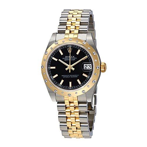 Rolex Datejustブラックダイヤルレディース時計1...