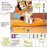 アクティブコーポレーション 2019年 猫 カレンダー 週めくり 卓上 だってネコだもの。 ACL-567 画像