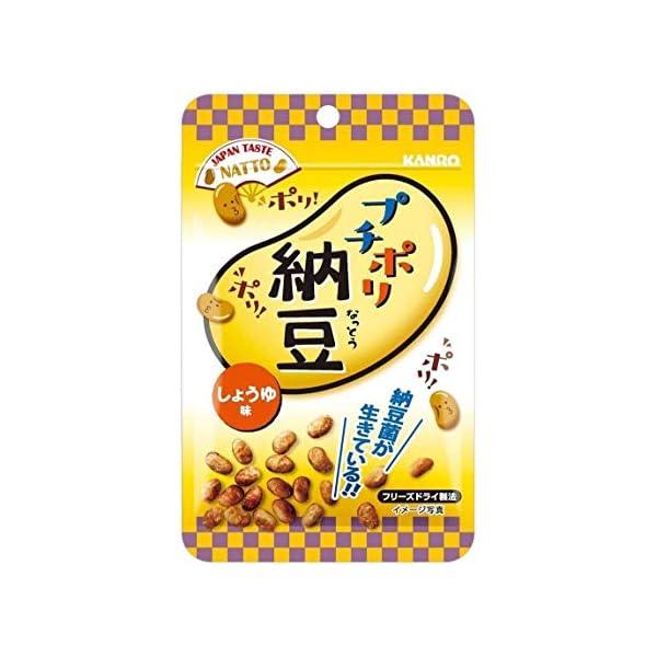 カンロ プチポリ納豆 しょうゆ味 18g×6袋の商品画像