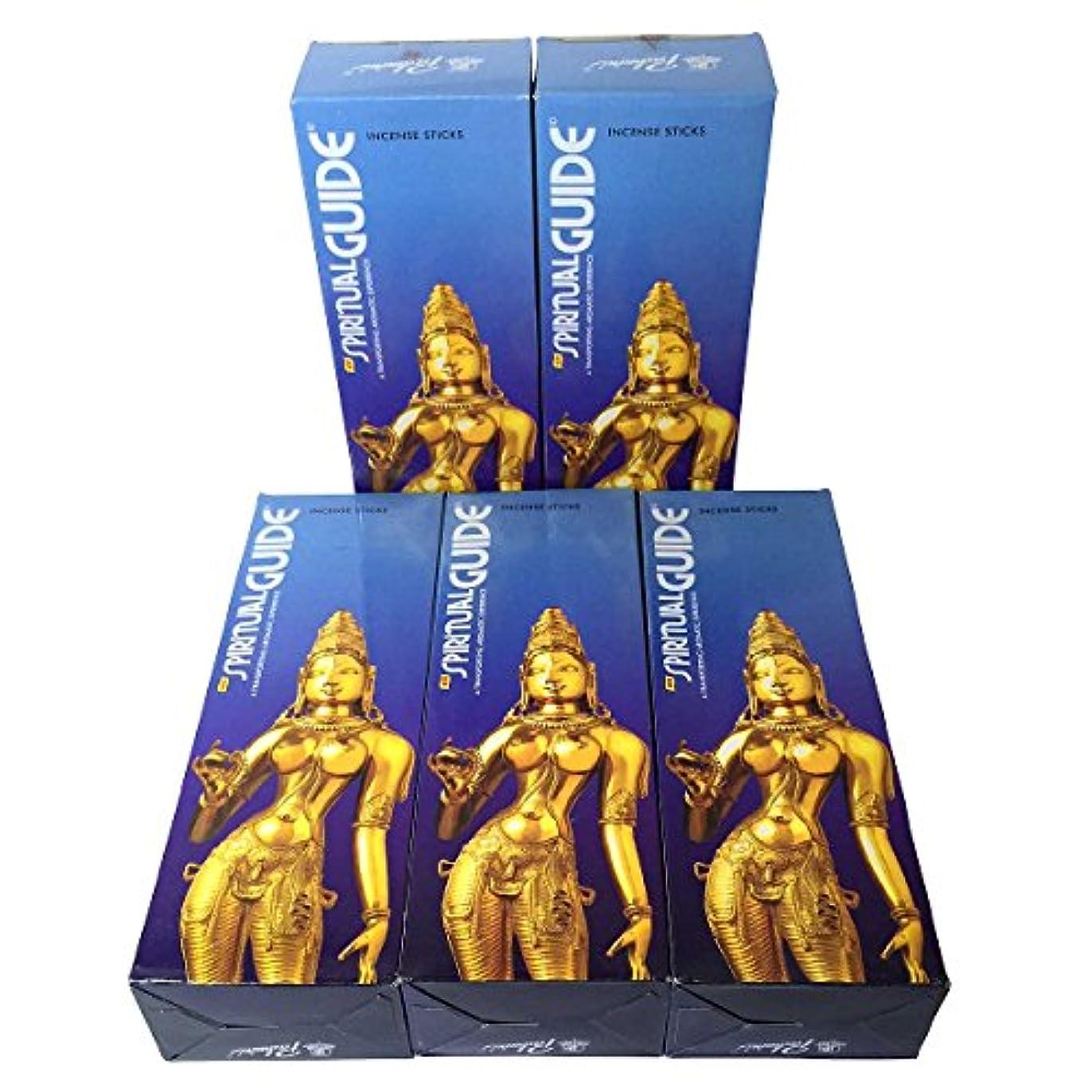 なめらかな懐比類のないスピリチュアルガイド香スティック 5BOX(30箱)/PADMINI SPIRITUALGUIDE インド香 / 送料無料 [並行輸入品]