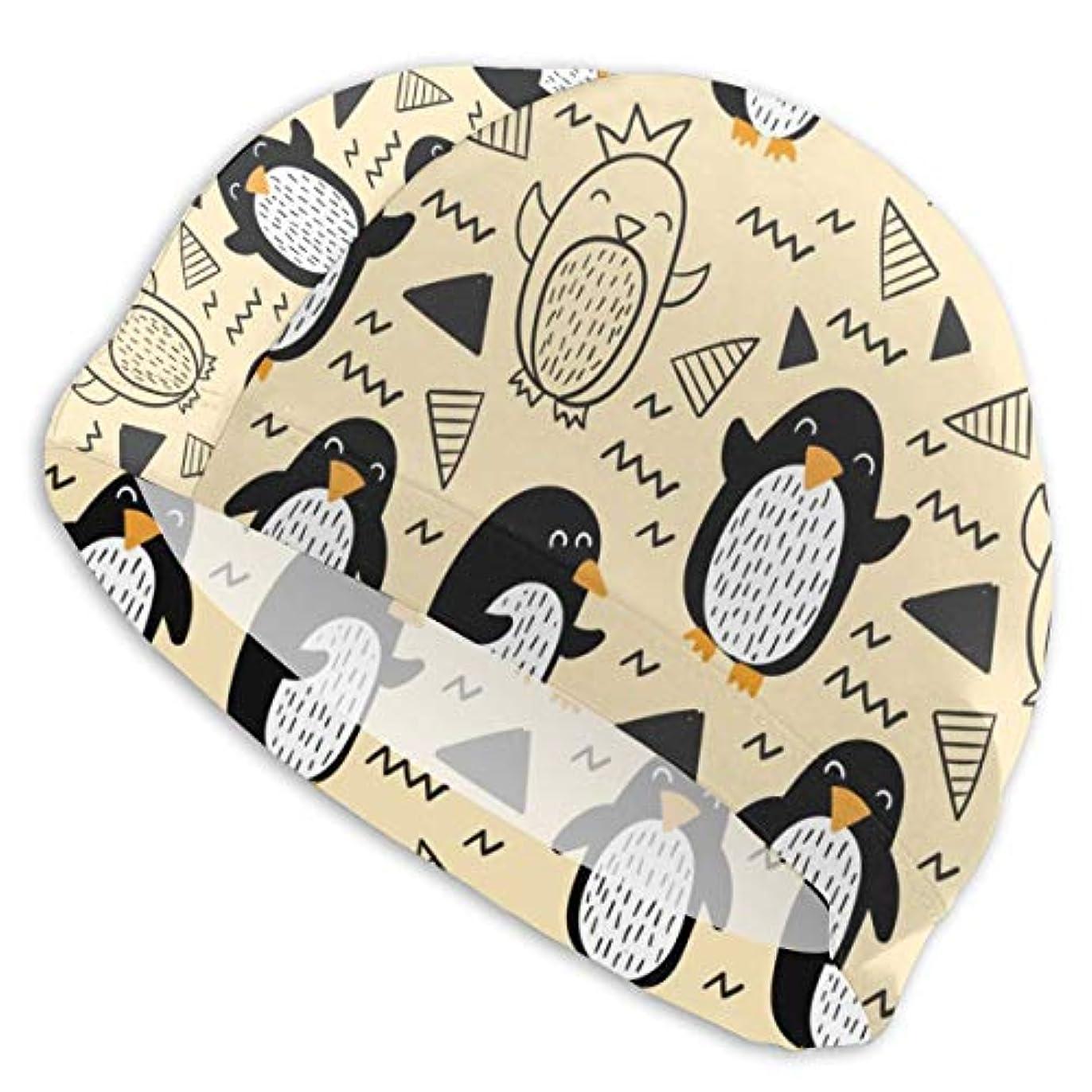アンテナ慎重にデコラティブ水泳帽 スイムキャップ 水泳キャップ スイミングキャップ スポーツ 競泳 トレーニング ペンギン 漫画 柔らかい Uvカット 伸縮性良い 浸水防止 着脱簡単 男女兼用 大人 学生 シンプル 無地