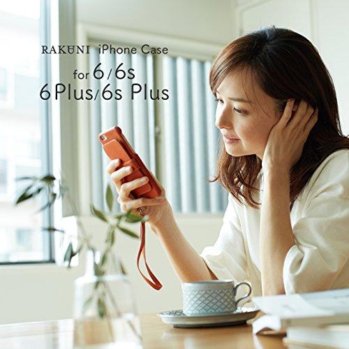 『RAKUNI (ラクニ) iPhone 6/6s Plus用 本革 背面ポケット 財布型 ストラップ付き レザーケース(スタンド機能)(iPhone 6/6s Plus用) (インディゴ)』の6枚目の画像