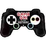 (オークツリー) Oaktree ゲーム コントローラー型 アルミ風船 パーティー バルーン 誕生日 (36in) (ブラック)