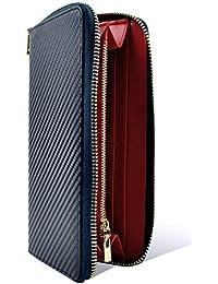 HIGHFIVE 長財布 カーボンレザー ラウンドファスナー ウォレット ブランド 財布 サイフ メンズ レディース プレゼント 全4色