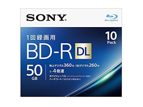 SONY ビデオ用ブルーレイディスク 10BNR2VJPS4(BD-R 2層:4倍速 10枚パック)