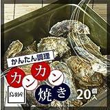 冷凍 牡蠣のカンカン焼き 鳥羽産 加熱用20個 軍手、カキナイフ付[牡蠣]