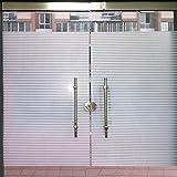 (ハッピー・ライフ)Happylifeガラスフィルム ストライプ 窓用フィルム 浴室目隠しシート 断熱 紫外線カット プライバシーガラスフィルムカラフル 2665 幅90cm×長さ100cm