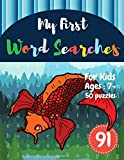 My First Word Searches: 50 Large Print Word Search Puzzles to Keep Your Child Entertained for Hours | Ages 7 8 9+ Fish Design (Vol.91) (Kids word search books)