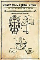 特許デザインの野球マスクルーニーメタルサインとBlechschilderWeltティンサイン
