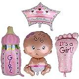 amleso ベビーシャワー 洗礼式用 バルーン 女の子 フットプリント型 女の子型 パーティー 素晴らしい 装飾
