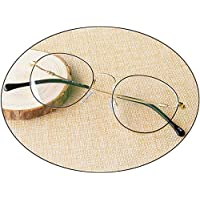 Comfortable Fashion Reading Glasses Round High-Definition Glasses Frame Female Big Frame Male Anti-Blue Light Beautiful (Color : Black Gold, Size : +1.50D)