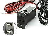 (トクトヨ)Tokutoyo スズキ用 純正スイッチホール用 USBポート 充電/オーディオ中継可 車載用 増設USBポート スマホ充電器