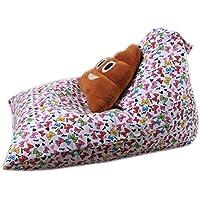 Bestpriceam Kids Stuffed Animal Plush ToyストレージBeanバッグソフトポーチストライプファブリック椅子F