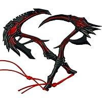 JQ trend おもちゃ アーミー 装備品 地獄の鎌 刀 剣 合金 塗装済みアクションフィギュアの武器 2点セット (画像色)