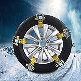 5本スノーチェーンマンガン鋼 スノーチェーン 金属 簡単 自動車 雪道 プラスチック アイスバーン 凍結 スリップ 悪路の対策 緊急用 ノンスリップグローブ/スノーショベル付き