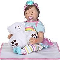 NPK 2017新しいRebornベビー人形おもちゃ新生児Sleeping幼児Realistic LifelikeファイバーヘアReborn Dolls for子22インチwith Clothes