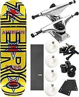 """ゼロスケートボードマッシュアップAmericanゼロ/太字スケートボード8"""" x 31.6"""" Complete Skateboard–7項目のバンドル"""