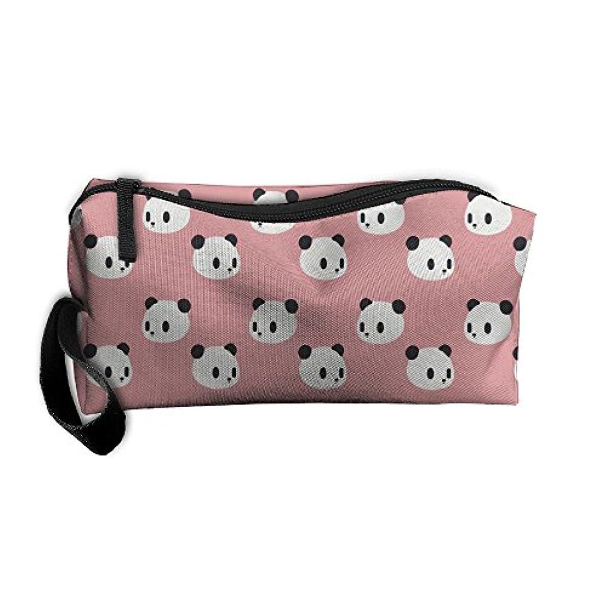 寛容な攻撃的隔離ErmiCO ペンポーチ ペンケース 筆箱 レディース メンズ カジュアル 化粧ポーチ 小物入り 多機能バッグ 贈り物 パンダパターン