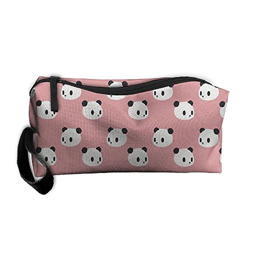 実り多い相反する制裁ErmiCO ペンポーチ ペンケース 筆箱 レディース メンズ カジュアル 化粧ポーチ 小物入り 多機能バッグ 贈り物 パンダパターン