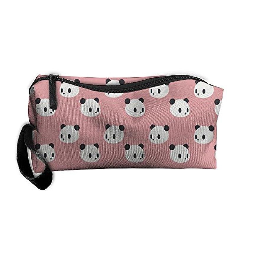 ミット面倒有能なErmiCO ペンポーチ ペンケース 筆箱 レディース メンズ カジュアル 化粧ポーチ 小物入り 多機能バッグ 贈り物 パンダパターン