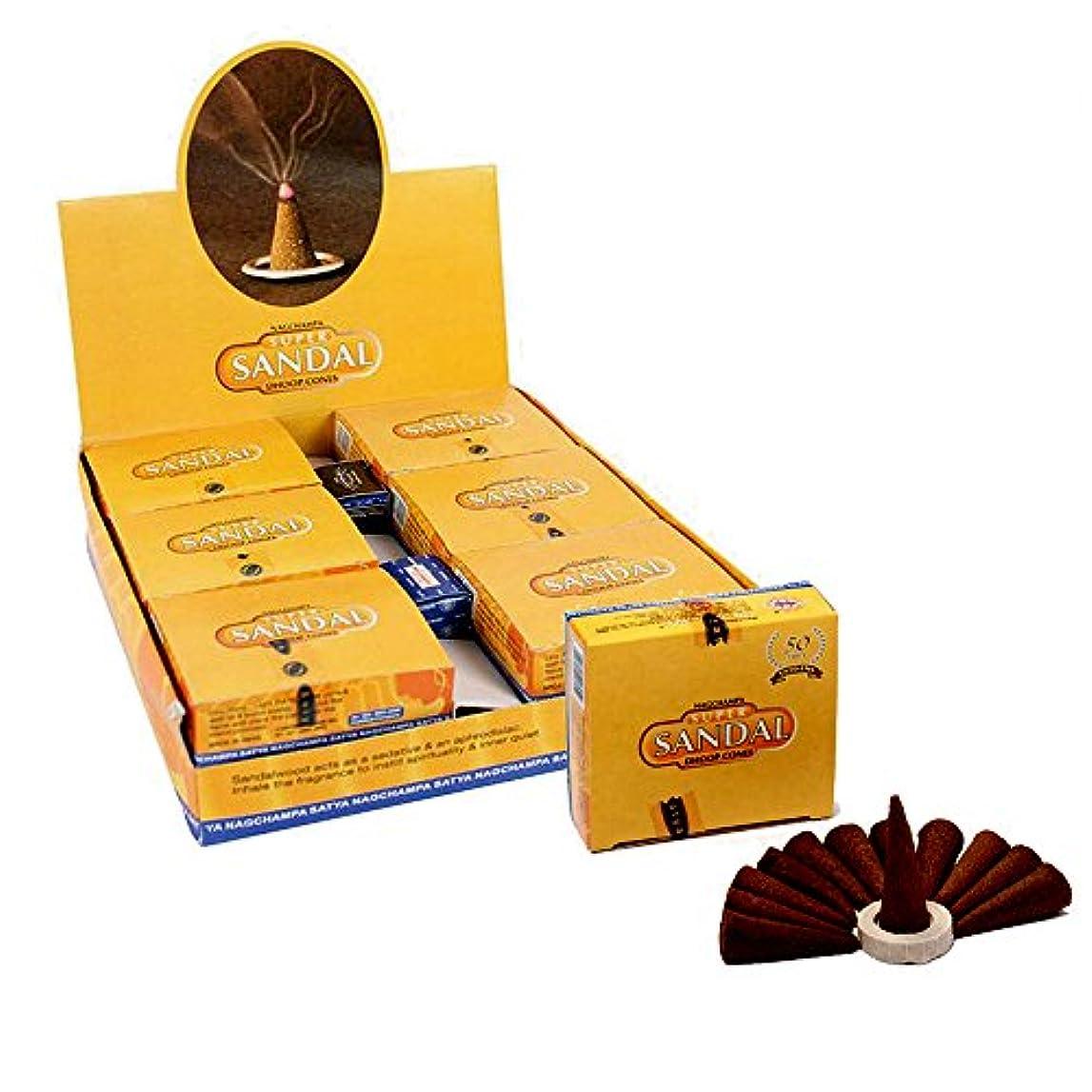 センチメンタルアセ散逸SatyaサンダルTemple Incense Cones、12 Cones in aパック、12パックin aボックス