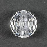プラビーズ(アクリルビーズ)・ミラーボールカット 10mm 透明クリスタル 20グラム入り (NO.1026)