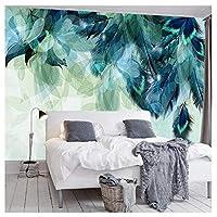 抽象羽 - カスタム3D写真の壁紙防水キャンバス現代の壁の壁画ステッカーリビングルームの寝室の背景250 cm(W)x 175 cm(H)