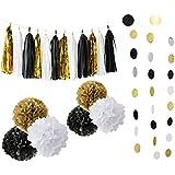 【ノーブランド品】 20枚/セット ティッシュ ペーパーの花 ポンポン タッセル ペーパーガーランド パーティー 装飾 全4タイプ - #2