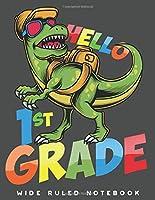 Wide Ruled Notebook: Dinosaur 1st Grade Wide Ruled Journal