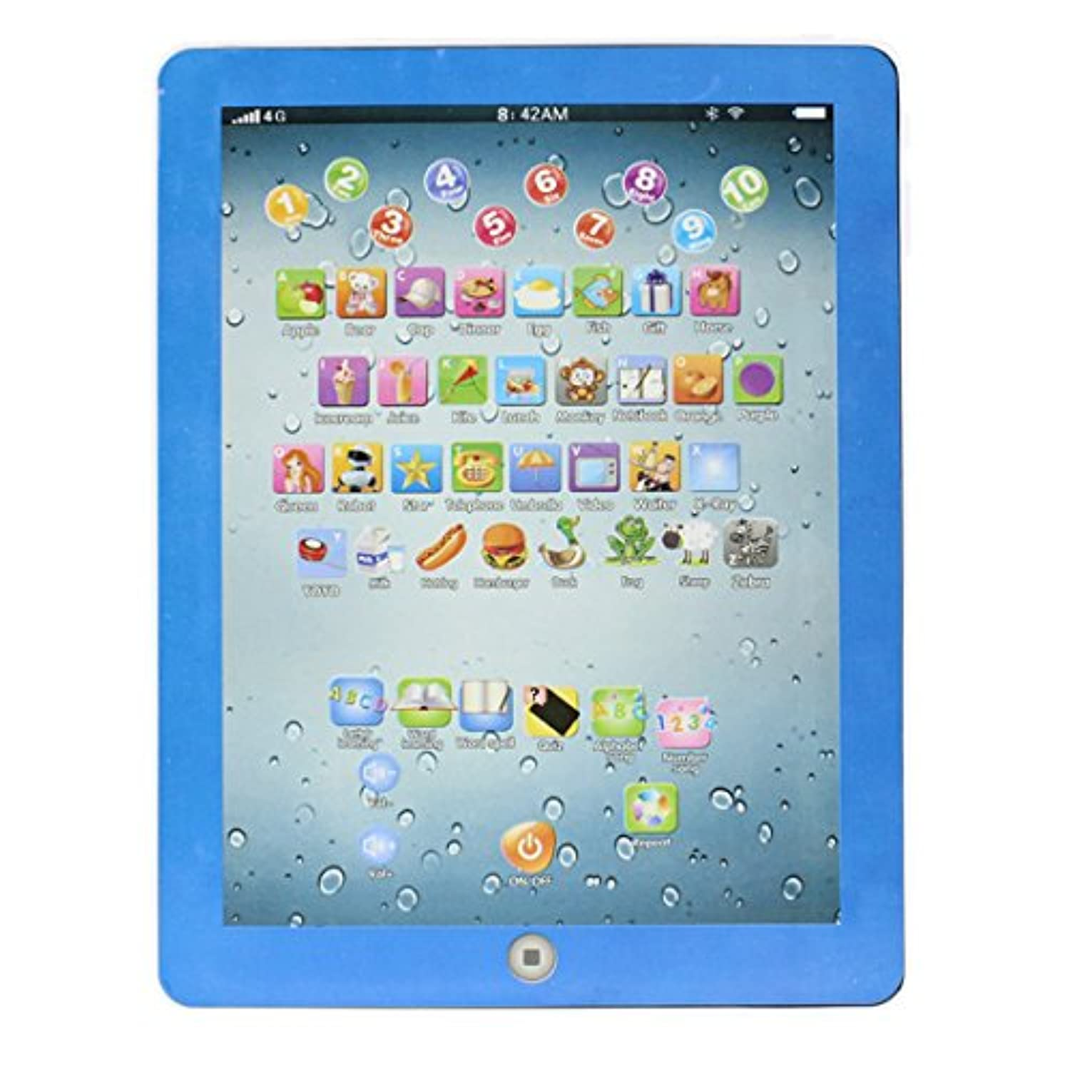 (Blue) - Kids Learning Tablet,Hemlock Toddler English Computer Touch Study Toy (Blue)
