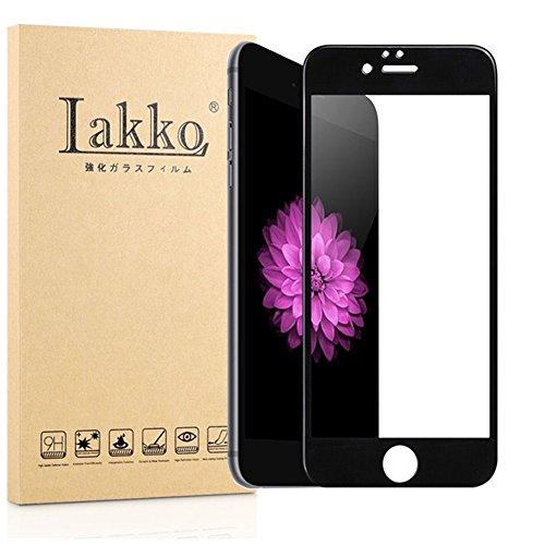 Millko Apple iPhone 6 Plus / iPhone 6s Plus 強化ガラスフィルム 専用 木箱 全面 気泡ゼロ 飛散防止 5.5インチ アップル アイフォン6 プラス / 6S プラス 液晶保護フィルム 国産ガラス素材 (黒)