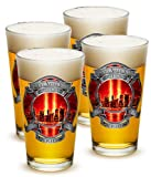 セットの4 Firefighters We Will Never Forget 09 – 11 – 01 16オンスPint Pub Glasses