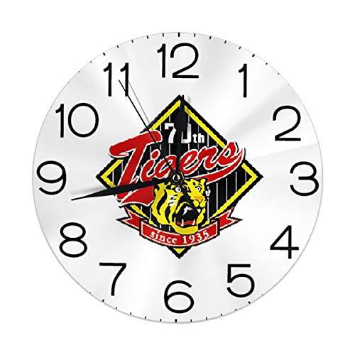 阪神タイガース 掛け時計 インテリア 壁掛け時計 丸型 飾る時計 連続秒針 サイレント ウォールクロック デジタル コンパクト ウォールクロック