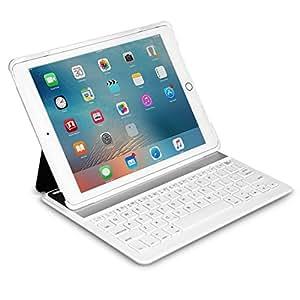 Inateck iPad Air 2/ iPad Pro 9.7インチ キーボードカバー ホワイト