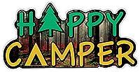 """InfamousネットワークHappy Camper–Smallバンパーステッカー/デカール(5.25"""" X 2.5"""")"""