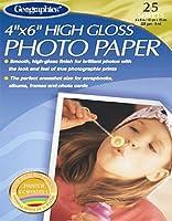 Geographicsプレミアム高光沢フォト用紙、4x 6インチ、ホワイト、100枚のパック、10ケース(46057