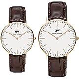 [ダニエルウェリントン]Daniel Wellington 腕時計 ペアウォッチ 0510DW 36mm 0111DW 40mm クラシック シンプル メンズ レディース [並行輸入品]